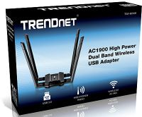 ADAPTADOR USB TRENDNET TEW-809UB WIRELESS AC1900 HIGH POWER DUAL BAND