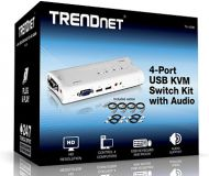 SWITCH TRENDNET KVM TK-409K 4 PUERTOS USB  AUDIO