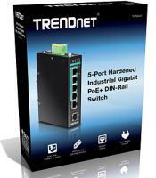 SWITCH TRENDNET TI-PG541 5-PUERTOS INDUSTRIAL GIGABIT POE+ DIN-RAIL (SFP)