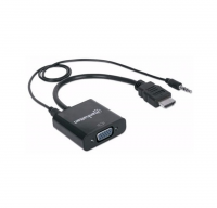 ADAPTADOR DE VIDEO HDMI A VGA CON AUDIO MANHATTAN 151559