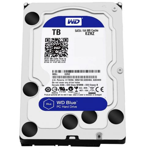 DISCO DURO PC 2TB SATA 5400 64MB W DIGITAL WD20EZRZ AZUL