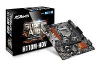 MOTHER BOARD ASROCK H110M-HDV LGA1151 6/7MA DDR4X2 32GB VGA HDMI DVI-D