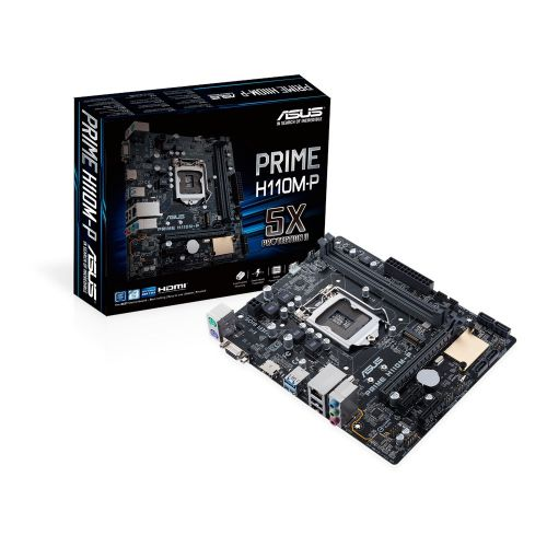 MOTHER BOARD ASUS H110M-P LGA1151 DDR4 V/S/R HDMI / VGA