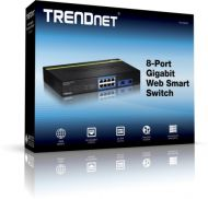 SWITCH TRENDNET TEG-082WS 8-PORT GIGABIT WEB SMART