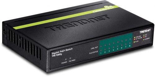 SWITCH TRENDNET TPE-TG82G 8 PUERTOS GIGABIT POE+ (61W)