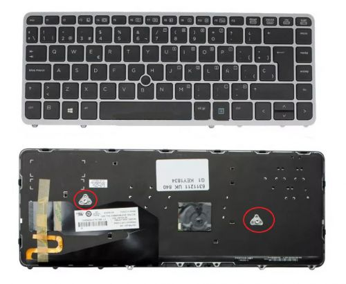 TECLADO NOTEBOOK HP ELITEBOOK 840 850 G2 762758-B71 NSK-CP3BV 9Z.N9JBV.301