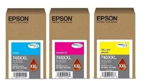 TINTA EPSON 748XXL CYAN WORKFORCE WF6090/6590 (69ML)